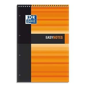 Oxford Office Easynote 100104933  Lot de 5 Bloc étudiant feuillets détachables 160 pages 210 X 315 mm Assortis