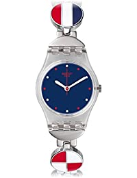 Swatch Damen Armbanduhr Digital Quarz Edelstahl LK344G