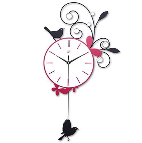 Balançoire personnalisée horloge murale européenne moderne salon horloge mode silencieux quartz horloge murale