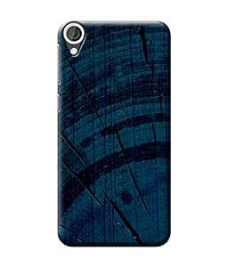 Be Awara Cracking Wood Blue Designer Mobile Phone Case Back Cover For HTC Desire 820