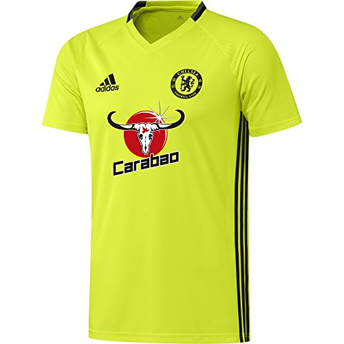 adidas Herren FC Chelsea Trikot, Solar Yellow/Black/Granite, XXL (Training Trikot Chelsea)