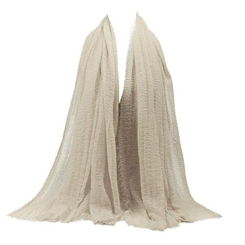 Goodsatar Premium Viskose Maxi weich Crinkle Cloud Hijab Schal (K) (Schal Für Hijab)