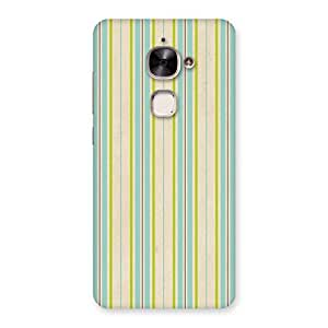 Neo World Greenish Stripes Back Case Cover for Le 2