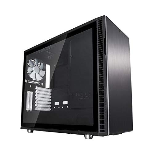 Fractal Design Define R6 Black Tempered Glass, PC Gehäuse (Midi Tower mit Seitenteil aus gehärtetem Glas) Case Modding für (High End) Gaming PC, schwarz