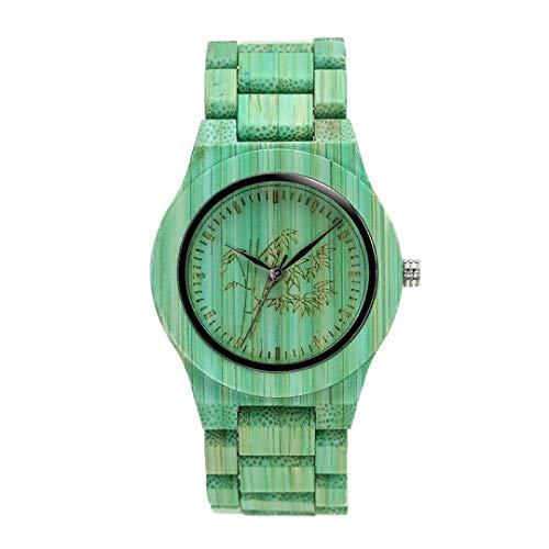 Einzigartige Bunte Bambus Uhren Liebhaber Handgemachte NatüRliche Holz Armband Quarz Analog Armbanduhren Ideale Geschenkartikel S55362 -