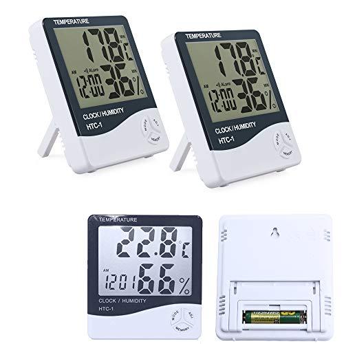 Allright 4 X Digitales Thermo-Hygrometer TEMP Humidity Thermometer Temperatur- und Luftfeuchtigkeitmessgerät HTC-1