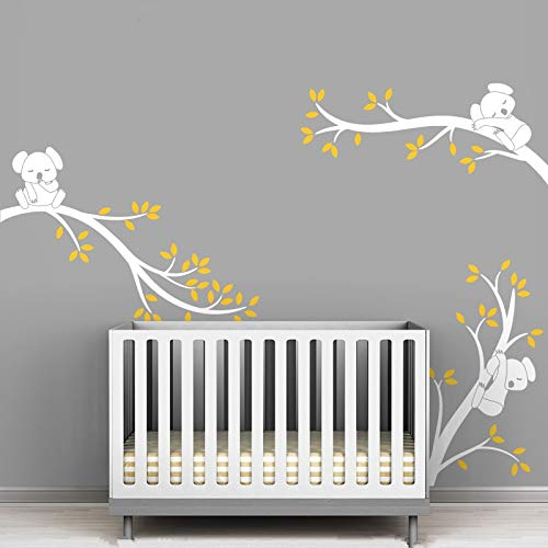 NIMEY Sticker Mural Koala And Tree Branches Wall Stickers Oversize Removable Wall Decal Decor Living Room Baby Kids Room Wallpaper Postercolor 2