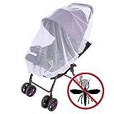 zanasta Universal Mückennetz/Insektenschutz für Kinderwagen, Buggy, Babyjogger und Reisebett | Feinmaschiges Netz, Reißfest & Waschbar, weiß