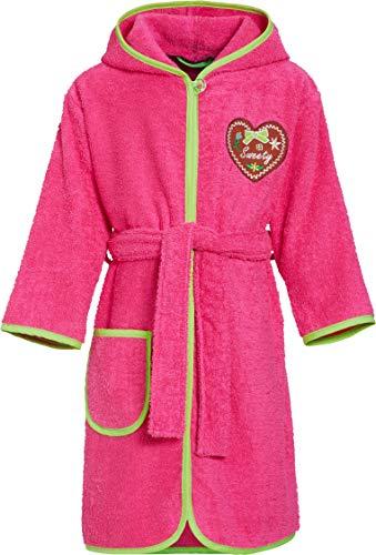 Playshoes Mädchen Frottee Sweety Bademantel, Rosa (Pink 18), 122 (Herstellergröße: 122/128)