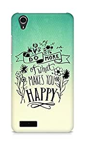 AMEZ do more of what makes you happy Back Cover For Lenovo A3900