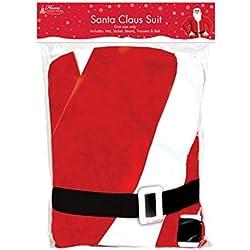 Home Collection - Disfraz de Papá Noel para hombre (Talla Única/Rojo/Blanco)