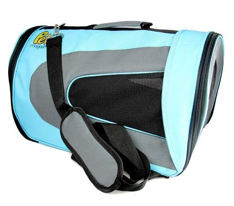 Pet Magasin [Extra 50% OFF] Soft-Sided Pet Travel Carrier (Airline Approved) Cats, Small Dogs, Puppies Other Pets (Large, Blue)