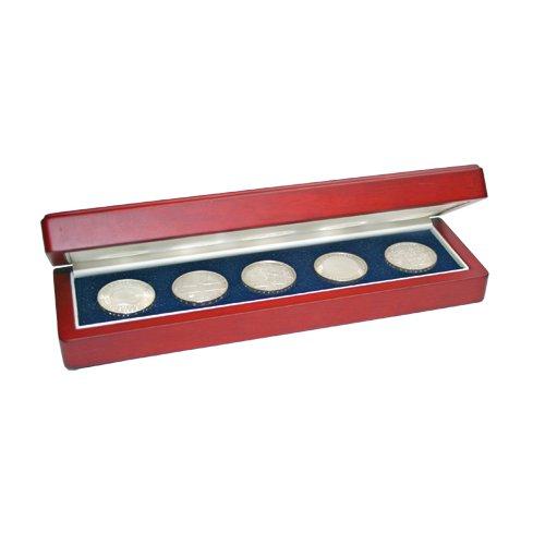 Schatulle aus Holz für 5 Münzen 7911 -