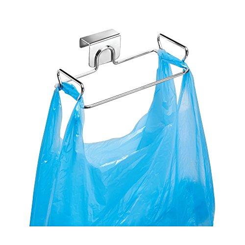 Interdesign classico portasacchi differenziata da appendere, supporto per sacco della spazzatura in metallo, argento