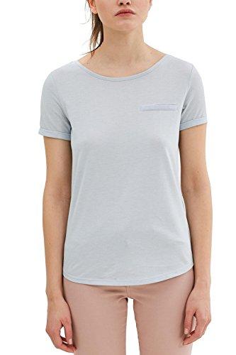 edc by Esprit 047cc1k003, T-Shirt Femme Bleu (Pastel Blue 3)