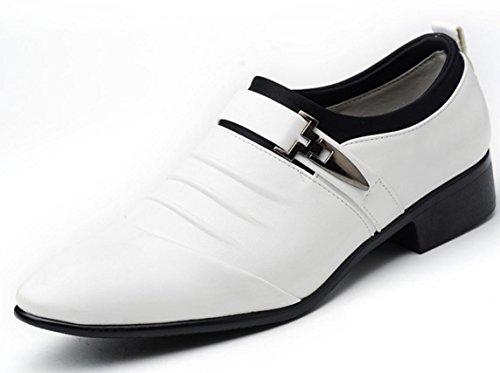Bianco Casual Inglese D'affari Scarpe Appuntite 45 46 47 Grande Vestito Moda Mlfmhr Banchetto Uomini wRqfnOTO