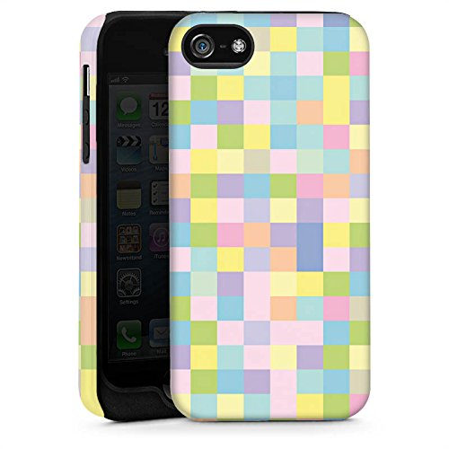 Apple iPhone 5s Housse Étui Protection Coque Motif Motif couleurs Cas Tough brillant