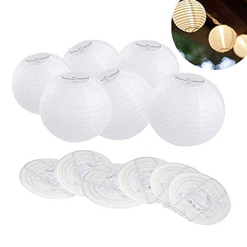 ilauke 12pcs Lanterne en papier abat-jour Lampion en forme de boule blanche forme de balle pour hocht Temps Église Garden Party Décoration