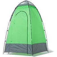 skandika Duschzelt 130 X 130 X 210 cm 16047 Cabina Ducha Camping, Unisex Adulto, Verde/Gris