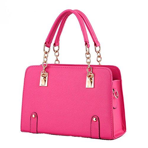 Damen-Ketten-Mode Kuriertasche Schultertasche Handtasche Niet Kleine Quadratische (Mädchen Niet Kostüm)