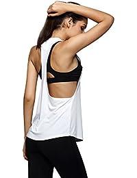 luoluoluo Tank Top Donna Ladies Loose Tanktop, T-Shirt Sportiva Donna Top a Reggiseno Sportivo da Donna - Fitness Donna Abbigliamento -