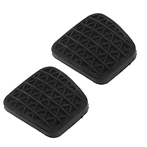 2 x Black Clutch Or Brake Pedal Pad Rubber Cover For Astra G MK4 OEM 560775