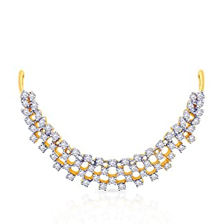Malabar Gold and Diamonds 18KT Yellow Gold and Diamond Necklace for Women