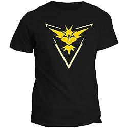 Tshirt Pokemon Go Team Valor Team Mystic Team Instinct Red Blue Yellow Game 2016 - in cotone by Fashwork