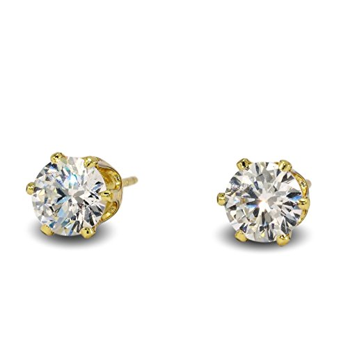 edf97a691c2df Blue Diamond Club - 9ct Yellow Gold Filled Stud Earrings with ...
