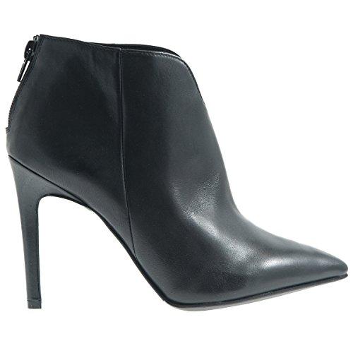 CAF NOIR HT107 femme noire chaussures stub talon de la botte postal Noir