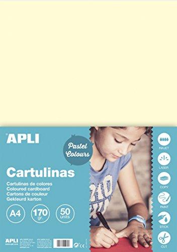 APLI 14230 - Cartulina marfil A4 170 g 50 hojas
