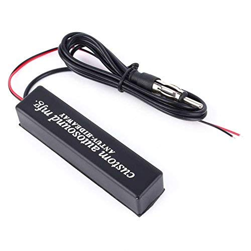 12V Auto Motorrad Stereo-Radio, keenso Universal Elektronik verstecktem Antenne FM AM Amplified Kit für Fahrzeuge, Golf Carts, Boote, Motorräder, ATV Auto Stereo Antenne