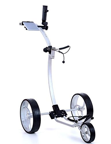 Tour Made RT-110W Aluminium 3rad Push Golftrolley in silber