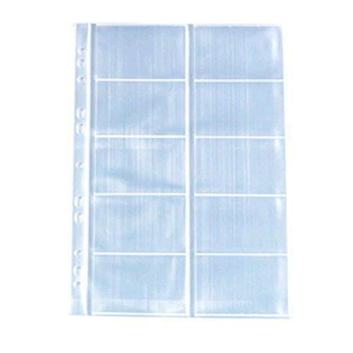 Herlitz 5894209 Visitenkartenhülle A4 mit 10 Fächern, glasklar, 100 Stück