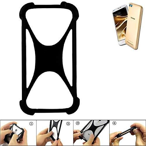 K-S-Trade Handyhülle für Doogee X30 Schutz Hülle Silikon Bumper Cover Case Silikoncase TPU Softcase Schutzhülle Smartphone Stoßschutz, schwarz (1x)