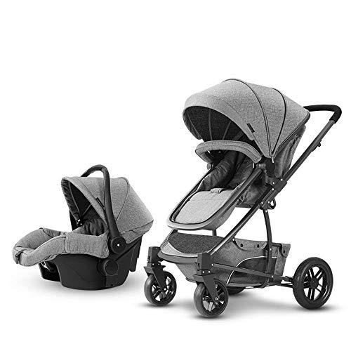 ZhiGe Kinderwagen Sport Baby Korb Trolley Triple High-Ansicht Neugeborenen kann auf eine leichte Falten Wagen sitzen. (Triple Wagen)