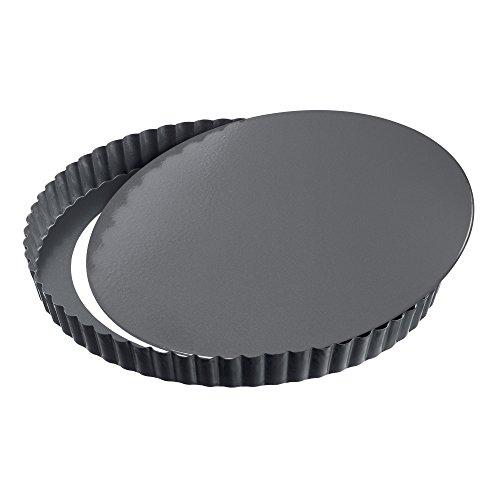 KAISER Quiche- und Obstkuchenform Ø 24 cm La Forme Plus perfekte Kairamic Antihaftbeschichtung schnitt- und kratzfester Emaille-Boden herausdrückbarer Hebeboden