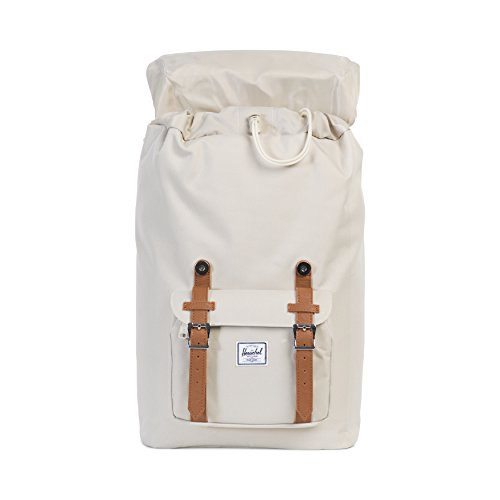 Herschel Supply Co. Rucksack Little America mid-volume, Stellar/Tan Synthetic Leather (blau) - 10020-01334-OS Pelican/Tan Synthetic Leather