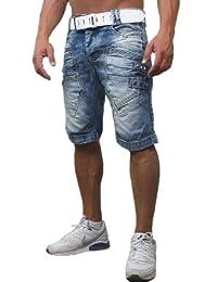 Redbridge by Cipo & Baxx 9392 Short en jean pour homme Bleu