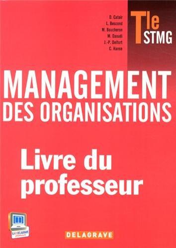 Management des organisations Tle STMG : Livre du professeur