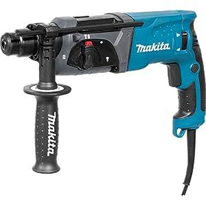 Makita HR2470F rotary hammers 1100 RPM – Martillo perforador (2,4 cm, 1100 RPM, 2,7 J, 4500 ppm, 1,3 cm, 3,2 cm)