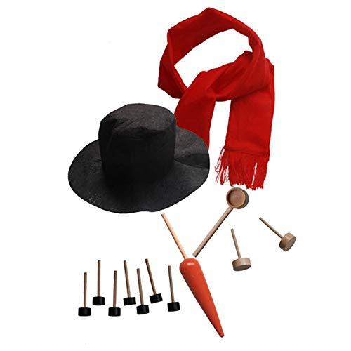 Nasen-kit (Kentop Schneemann Making Kits Werkzeuge Schneemann Dekorieren Kit Hut Schal Rohr Augen Mundknopf Nase Zubehör Winter Urlaub Outdoor Spielzeug Weihnachten Geschenk)