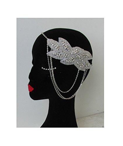 Argent Diamante chaîne Bandeau Vintage Années 1920 ANNÉES Gatsby Bandeau N58 * * * * * * * * exclusivement vendu par – Beauté * * * * * * * *