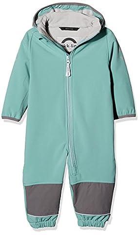 mikk-line Baby - Jungen Jacke Softshellanzug (Wassersäule 8.000) 16002, Einfarbig, Gr. 104, Grün (Mineral Blue