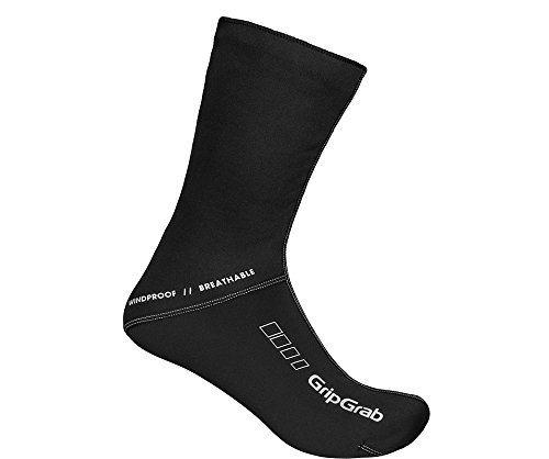 GripGrab Fahrradsocken Windproof Socks, Schwarz, XL (44-45)