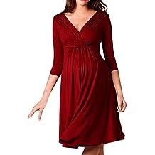 6e7f645bf Ropa Embarazadas Vestido Premama Lactancia STRIR Vestido De Lactancia  Femenino con Correa Multi Funcional