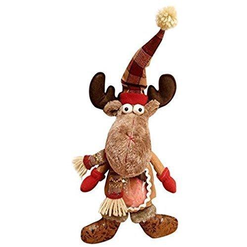 UChic 1 STÜCKE 43x22 cm Geschenktüte Weihnachten Kreative Große Apple Verpackung Dekoration Eve Elch Hirsch Nette Plüsch Puppe Frohe Weihnachten Elch Puppe Ornament Hängen Dekor -