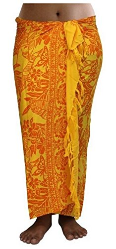ca.100 Modelle im Shop Sarong Strandtuch Pareo Wickelrock Loop gelb orange Sar22