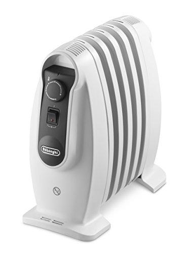 Delonghi TRNS 0505M - Radiador de aceite, 500 w, termostato seguridad, ajustes termostato, asas, blanco...