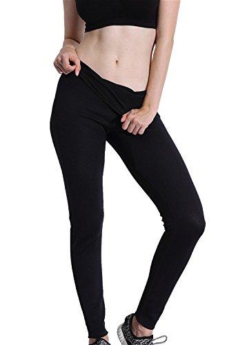 Vinmin Valentina Damen Hot Body Shaper SCR Sauna Pants Sweat Suit für Gewicht Loss Bauch Bein Fat Burner Slimming Workout-Leggings lang, Damen, schwarz, XL = US Size M - L -
